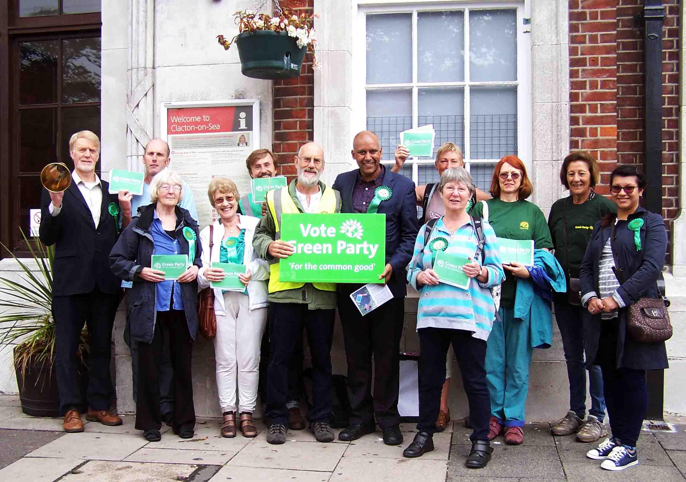 Tendring Green party campaign in Clacton with party Deputy Leader Shahrar Ali